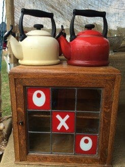 Oxo cabinet and matching kettles