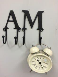 Alphabet coat hooks