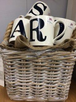 Alphabet mugs
