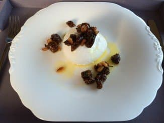 Buffalo Mozzarella With Fig, Pine-Nut And Parsley Salsa