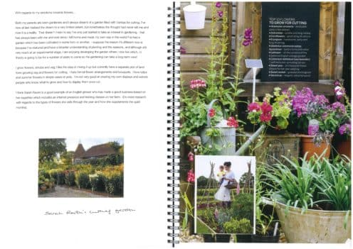 Sketch book - Sarah Raven's cutting garden