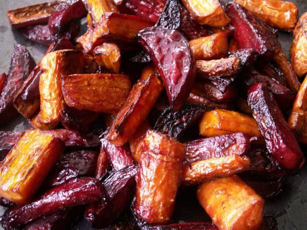 Jamie's Roasted Beets and Carrots