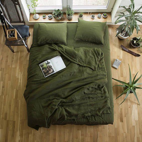 Green Bed Linen