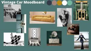 Vintage car moodboard