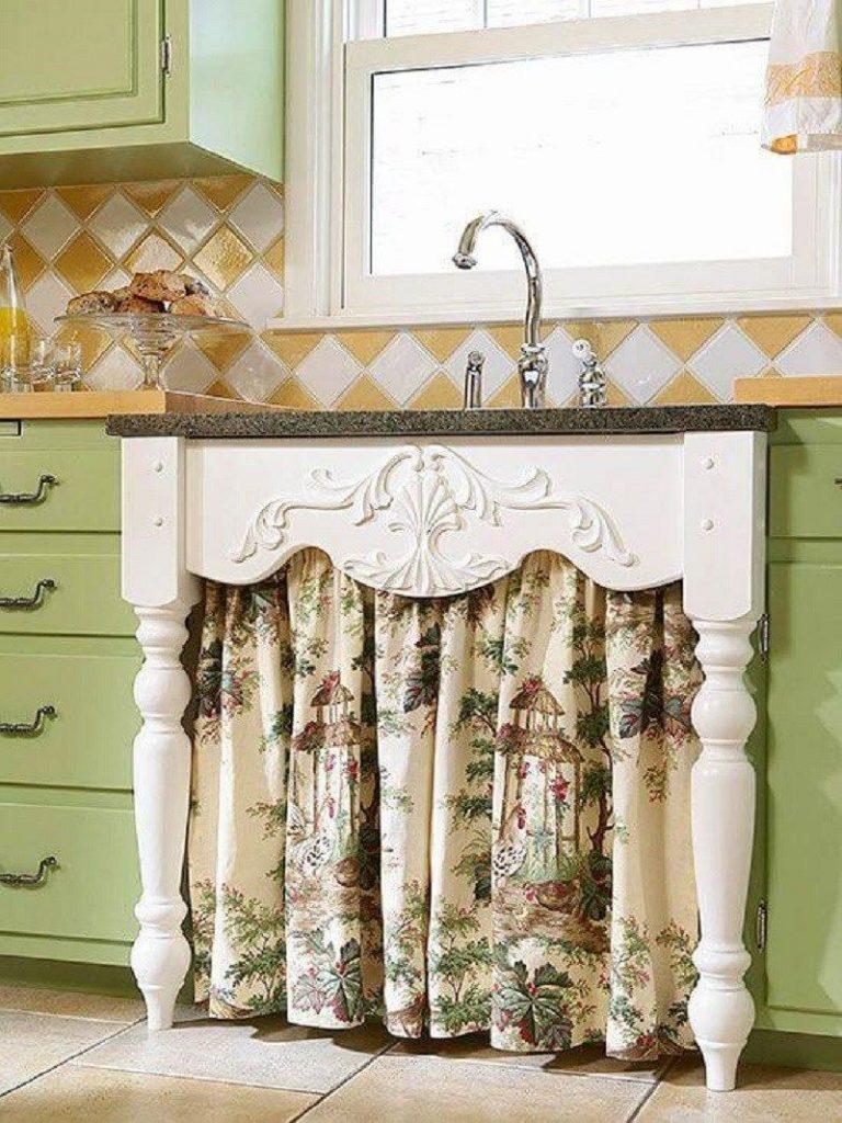 Under sink curtain