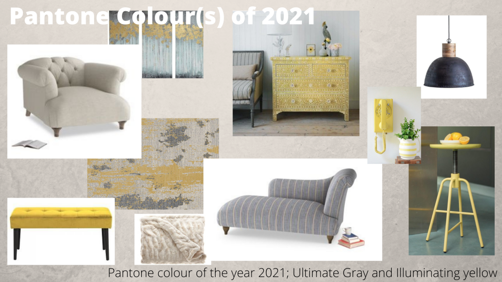 Pantone Colour of the year 2021 moodboard