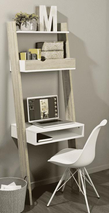 Oak ladder desk