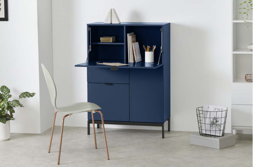 Made.com blue bureau also available in grey