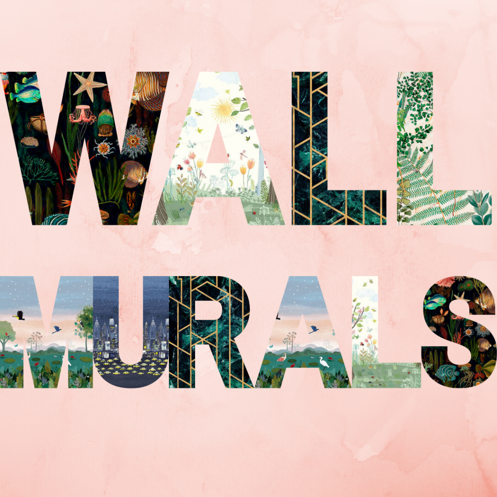Wall mural lettering