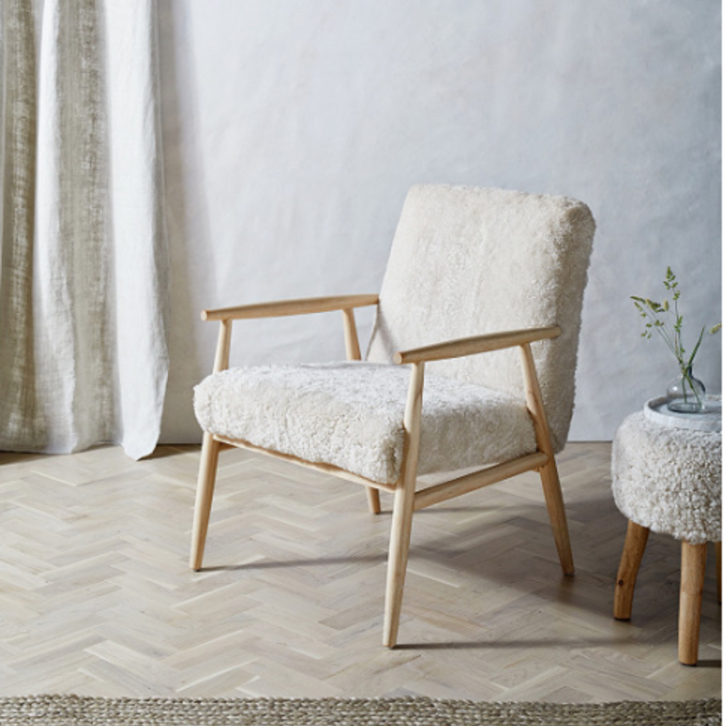 The White Company Sheepskin Chair