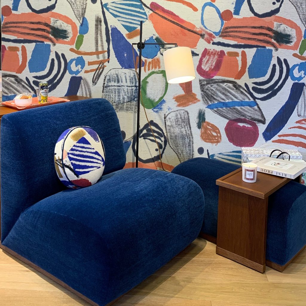 Decorative wallpapers displayed at DCCH during London Design Week