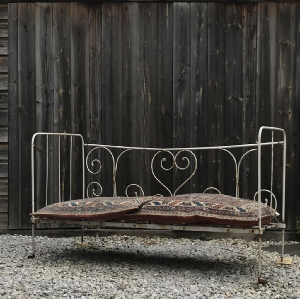 Vinterior French Wrought Iron Garden Day Bed