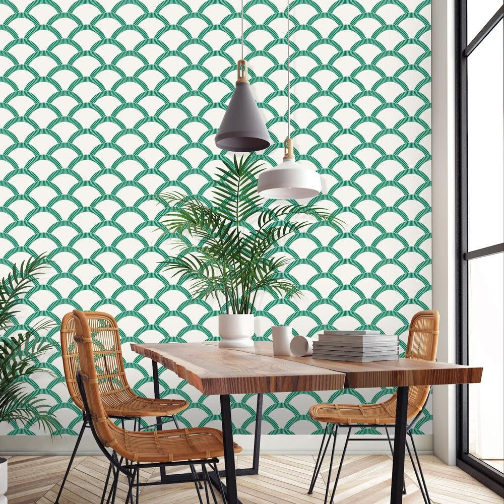 Arch patterned wallpaper
