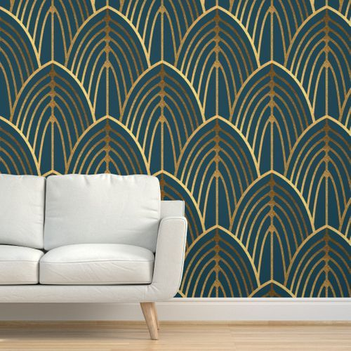 Arch patterned wallpaper by Spoonflower